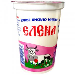 ЕЛЕНА, Кисело краве мляко, 3,6% 400гр.