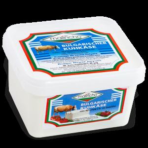 МАЛИНЧО, Краве саламурено сирене 48% Fett i. Tr., в пластмасова кутия 800 g