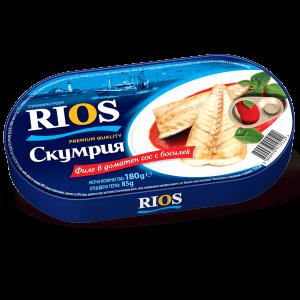 РИОС, Скумрия в пикантен доматен сос 250g