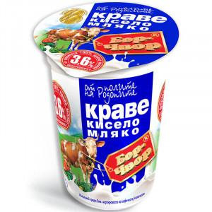 БОР ЧВОР, Краве Кисело мляко, 3,6%, 400гр