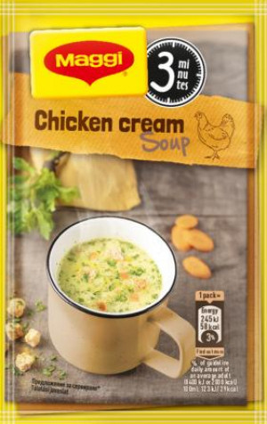 МАГИ, Вкусна чаша пилешка крем супа с крутони 16g