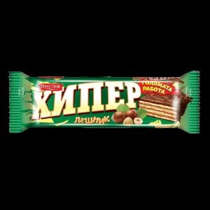 ХИПЕР, Тунквана вафла лешник 60 гр.