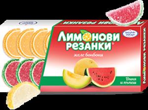 Лимонови резенки диня и пъпеш 180g