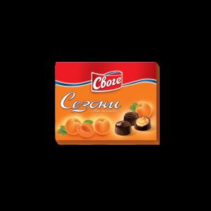 СЕЗОНИ, Шоколадови бонбони кайсия 160 g
