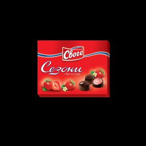СЕЗОНИ, Шоколадови бонбони Ягода 160гр