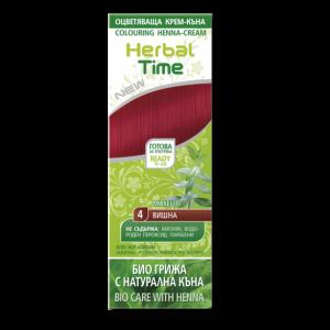 Herbal Time натурална крем-къна вишна N4, 75ml