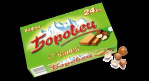 БОРОВЕЦ, Вафли с лешник 24 бр. 550g