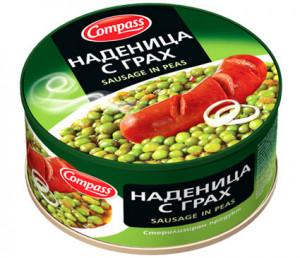 КОМПАС, Наденица с грах 300 g