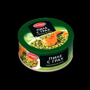 КОМПАС, Пиле с грах 300 g