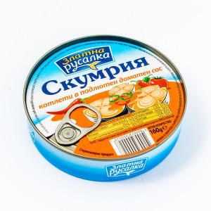 Златна Русалка, Скумрия котлети в подлютен доматен сос 160g