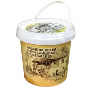 БОР ЧВОР, Домашно Краве Кисело мляко с каймак, 500гр