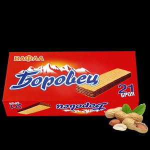 БОРОВЕЦ, Вафли с фъстъчен крем 21 бр.
