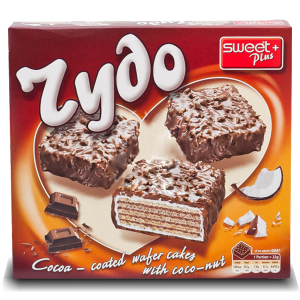 ЧУДО,Вафлена торта с какаов крем, кокос и какаово-млечна глазура 200 g