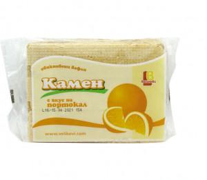 Обикновени вафли Камен, с вкус на портокал, 220гр