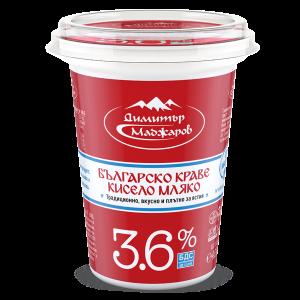 МАДЖАРОВ,краве кисело мляко 3,6% 400 ml