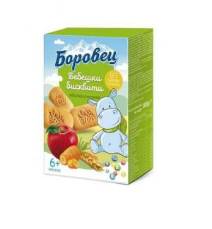 БОРОВЕЦ, бебешки бисквити с ябълка и морков, 100 g.