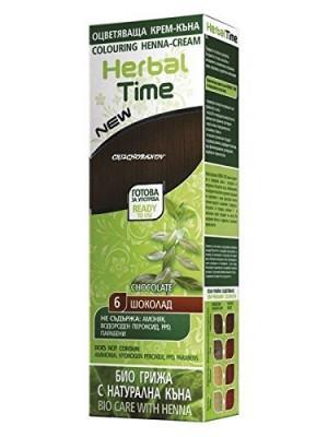 HERBEAL TIME натурална крем-къна Шоколад N6, 75ml